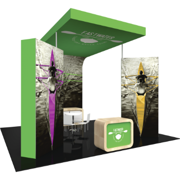 20x20 Island Trade Show Exhibit Booth Display